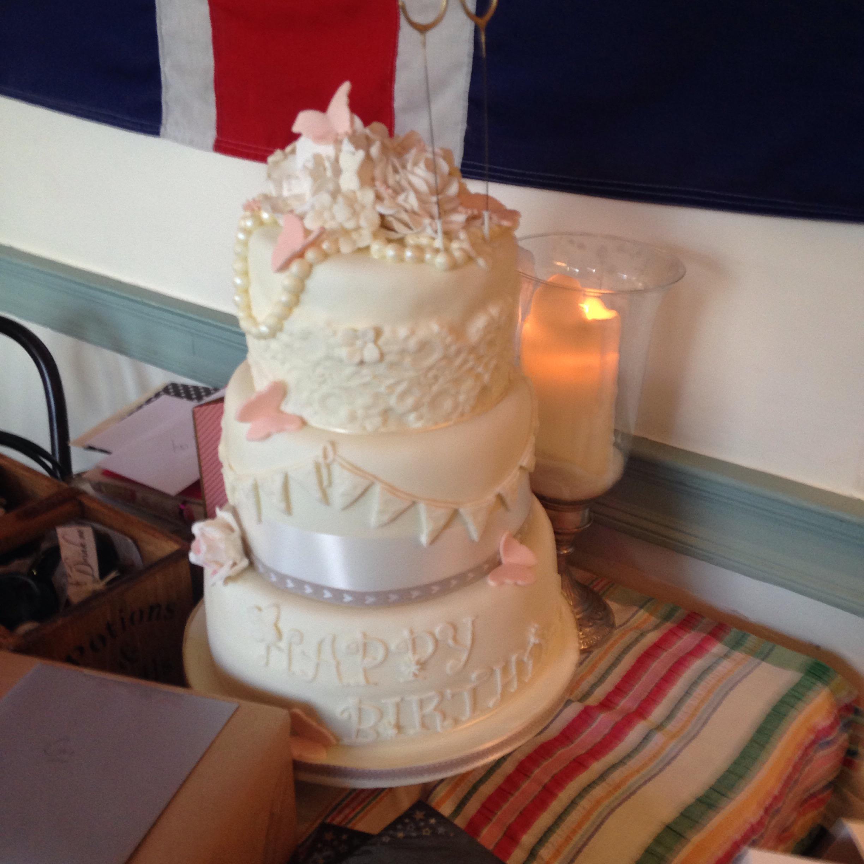 vintage birthday cake Something Definitely Happened