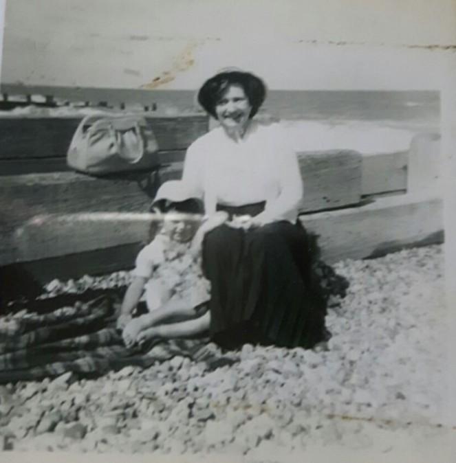 Gran mum beach