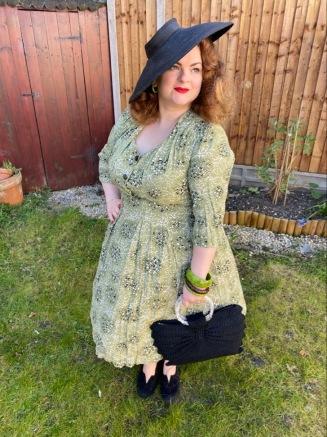 1950s atomic print dress