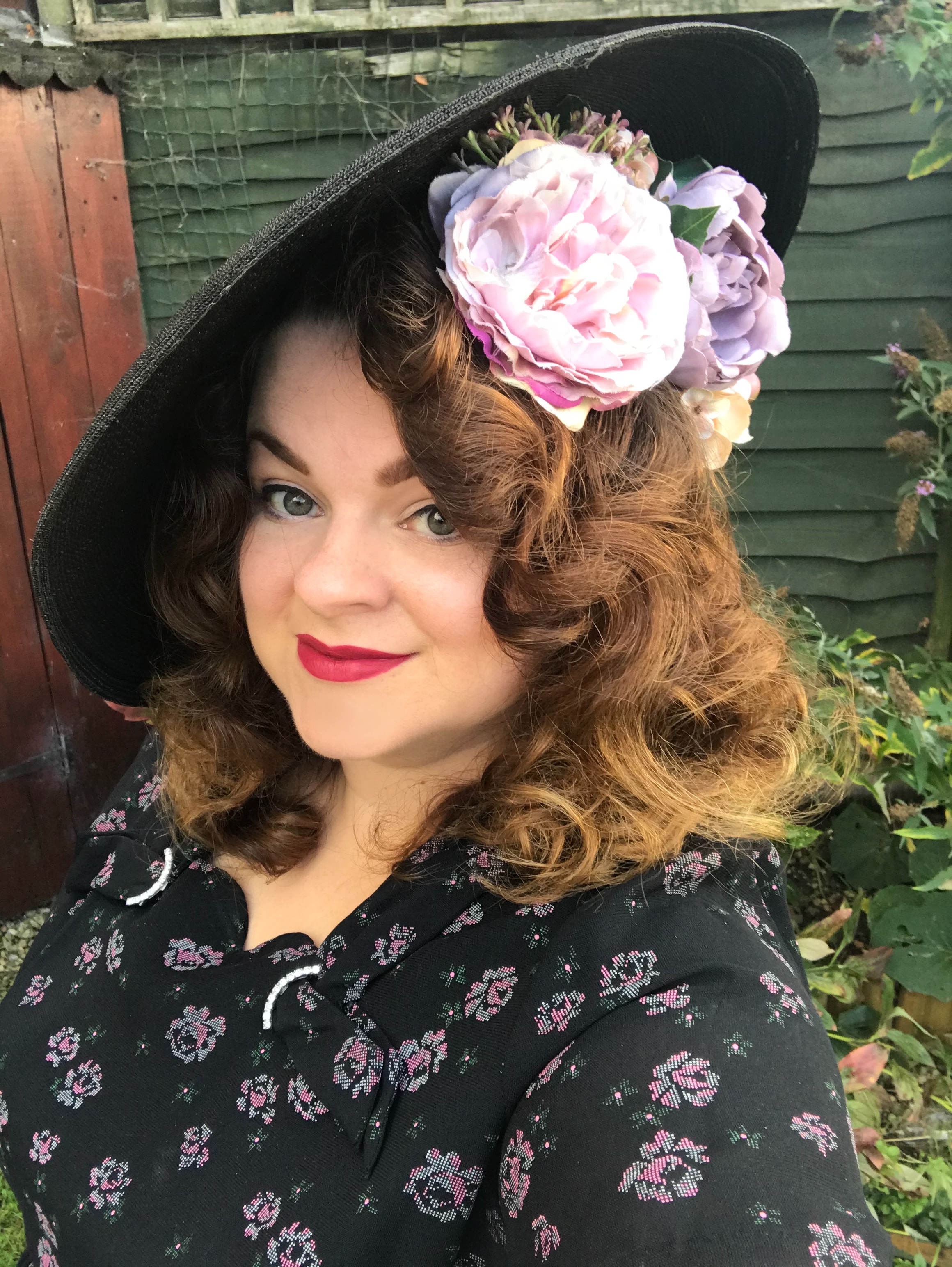hair flower and hat